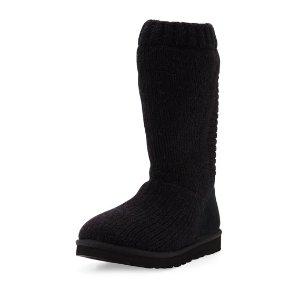 UGG Capra Tall Knit Boot, Black