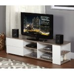 Urban TV Stand, White/Sonoma Oak