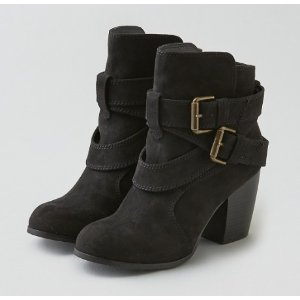 AEO BUCKLE HEELED BOOT