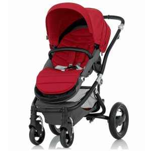 Britax Affinity Complete Stroller, Black - Red Pepper