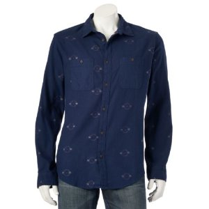 Men's Urban Pipeline® Patterned Flannel Button-Down Shirt