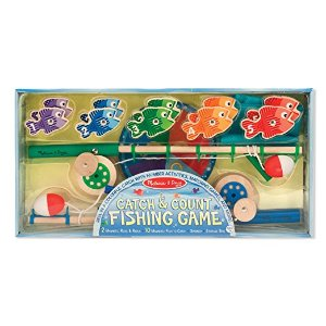 Amazon.com: Melissa & Doug Catch & Count Wooden Fishing Game With 2 Magnetic Rods: Melissa & Doug: Toys & Games