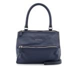 Givenchy Pandora Sugar Small Leather Satchel Bag, Deep Blue