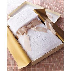 Matouk Auberge Monogrammed Towels
