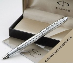 $20.09 Parker IM Premium Fountain Pen, Medium Point, Chiseled Chrome
