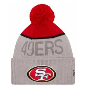 New Era NFL Sideline Sport Knit - Men's - Accessories - San Francisco 49ers - Graphite