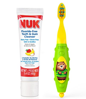 $5.99 NUK Toddler Tooth and Gum Cleanser, 1.4 Ounce, (Colors May Vary)