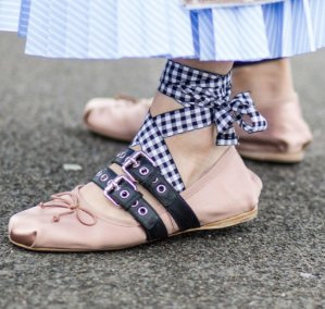 15% Off Miu Miu Lace-Up Ballet Flats @ Saks Fifth Avenue