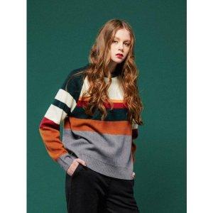 URAGO Color stripe Round Knit