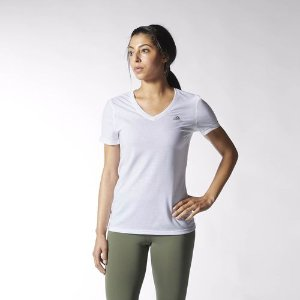 adidas Ultimate V-neck Tee - White