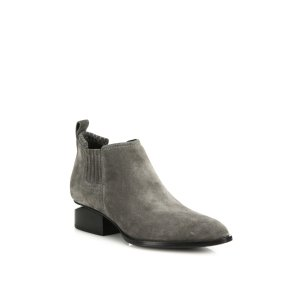 Kori Suede Tilt-Heel Booties by Alexander Wang at ORCHARD MILE