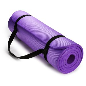 Lightning deal! $15.99 HemingWeigh Extra Thick High Density Exercise Yoga Mat with Carrying Strap