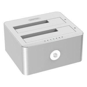 $29.99 UNITEK Aluminum USB 3.0 to SATA Dual Bay External Hard Drive Docking Station