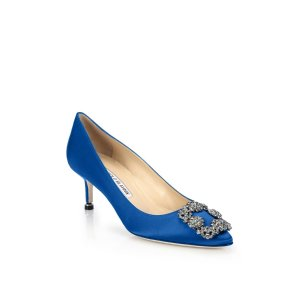 Hangisi 50 Satin Pumps by Manolo Blahnik