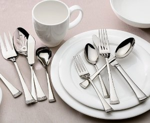 $61.57 Lenox Portola 65-Piece Flatware Set