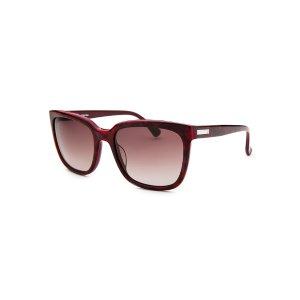 Calvin Klein CK4253S-5519367 Sunglasses,Women's Square Red Marble and Maroon Sunglasses, Sunglasses Calvin Klein Sunglasses Sunglasses