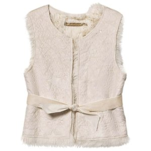 IKKS Cream Reversible Faux Fur Gilet