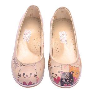 Goby Beige Heart Cats Flat - Kids | zulily