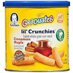 Gerber Graduates Lil' Crunchies Cinnamon Maple, 1.48-Ounce Canisters (Pack of 6)