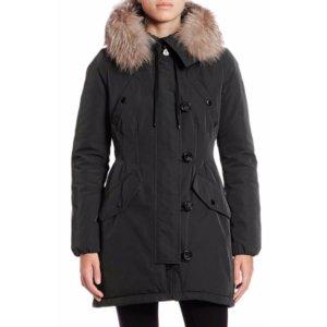 Moncler Aredhel Fur-Trimmed Jacket