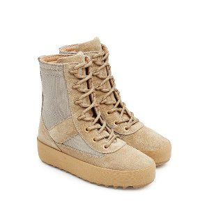 Suede Boots with Mesh from YEEZY | Luxury fashion online | STYLEBOP.com