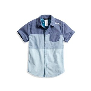 Color-Blocked Chambray Shirt (2-7) | guess kids