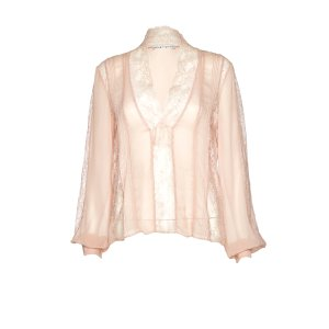 Robbie Sheer Lace Blouse | Alice + Olivia