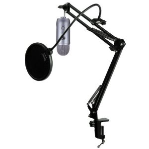 Blue Microphones Yeti Mic w/ Knox Mic Desktop Boom Scissors Arm