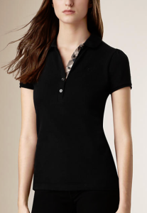 30% Off + Up to $100 Gift Card with Burberry Brit Peter Pan Collar Polo Shirt @ Bloomingdales