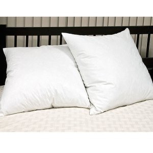 European Square 26 x 26 Inch Feather Pillows (Set of 2) - 11896218 - Overstock.com Shopping - Great Deals on Blue Ridge Home Fashions Down Pillows