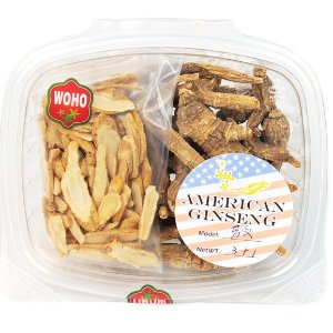 WOHO #171 American Ginseng Assorted Root 3oz +FREE American Ginseng Slice Small 1oz