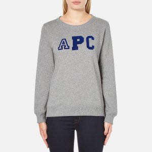 A.P.C. Women's APC Logo Sweatshirt - Grey - Free UK Delivery over £50