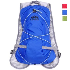 Crave Outdoors Hydration Backpack 1.5L Water Bladder Cycling Running Hiking Pack. Fits Men Women Children