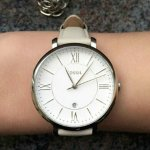 Fossil Women's ES3793 Jacqueline Stainless Steel Watch with Leather Band