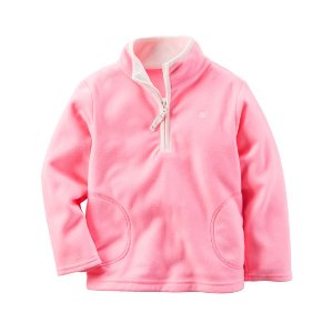 Baby Girl Half-Zip Fleece Pullover