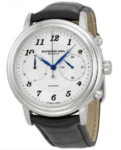 RAYMOND WEIL Maestro Chronograph Silver Dial Men's Watch RW4830STC05659