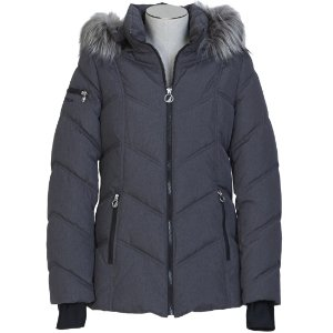 Short Chevron Quilted Puffer Jacket