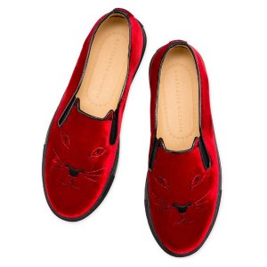 COOL CATS|SLIP-ON SNEAKER|Charlotte Olympia SHOES