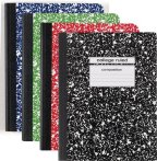 $0.5 Staples Composition Notebook, College Ruled, Various Colors