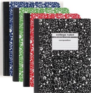 Staples Composition Notebook, College Ruled, Various Colors