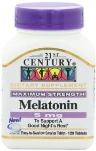 $3.31 21st Century Melatonin 5 mg Tablets, 120-Count