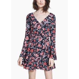 V-neckline boho dress - Women | OUTLET USA