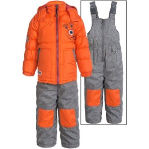 Rugged Bear Winter Jacket and Bibs Set (For Toddlers) - Save 63%