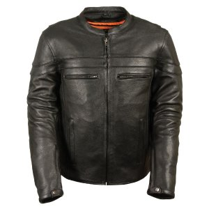 Milwaukee Leather Reinforced Leather Motorcycle Jacket