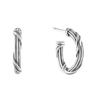 Dealmoon Exclusive! $49 (reg. $128)Ribbon & Reed™ Signature Classic Hoop Earrings in sterling silver .5""