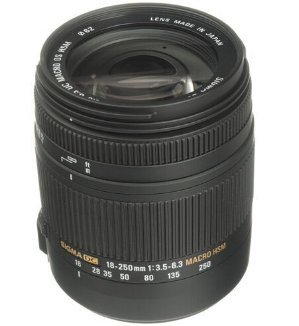 $252.99 Sigma 18-250mm F3.5-6.3 DC Macro OS HSM for Canon EF Cameras