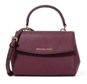Michael Michael Kors Ava Mini Textured-Leather Shoulder Bag