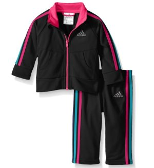 $18.91 Adidas Girls 4-6X Neon Tricot Jacket Set
