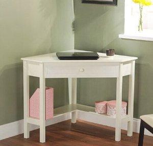 Corner Writing Desk, Multiple Finishes