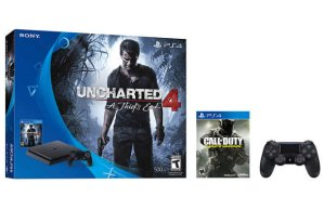 2016 Black Friday! $349.99 PlayStation 4 Uncharted 4 Bundle + Additional Controller and Call of Duty